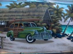 loveland island grill mural - 1949 packard
